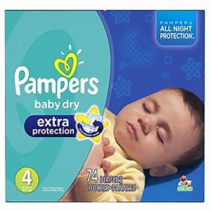 Pampers Baby Dry Extra Protection Diapers Size 4 Super ...