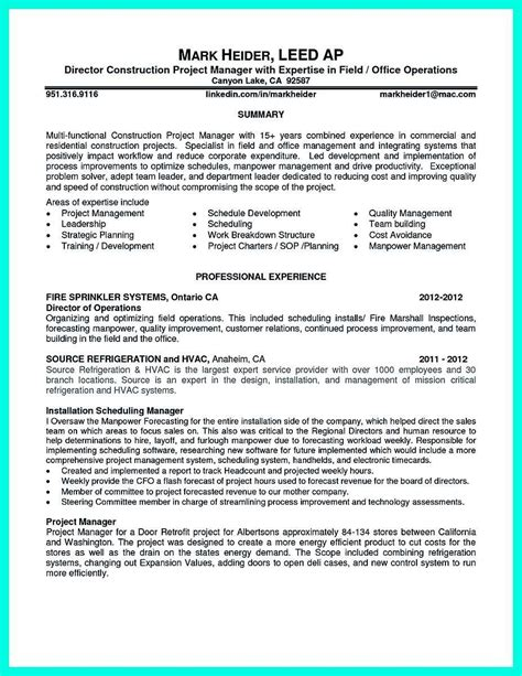 Construction Project Manager Resume by 30 Complete Construction Manager Resume Yd E30413