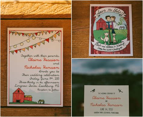 Barn Wedding Invitations : Pennsylvania Barn Farm Wedding At Lingrow Farm