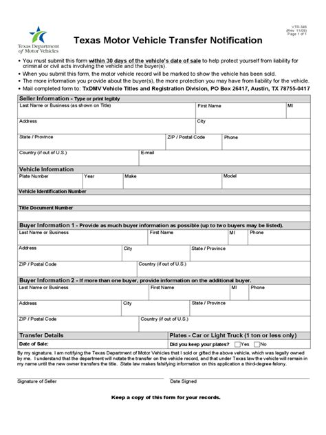 Form 21 For Vehicle Registration by Vehicle Transfer Form 20 Free Templates In Pdf Word