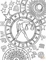 Zodiac Coloring Libra Pages Sign Signs Colouring Printable Adult Aries Star Signo Virgo Witch Books Mandala Astrological Printables Yahoo Chakras sketch template