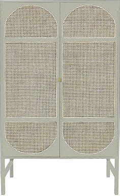 hk living retro webbing cabinet sliding doors grey