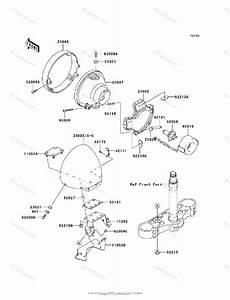 Kawasaki Motorcycle 2007 Oem Parts Diagram For Headlight S