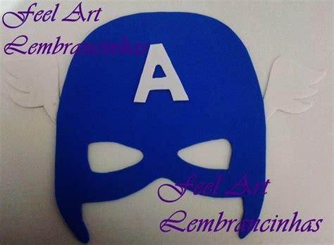 Máscara Capitão América Heróis EVA no Elo7 Feel Art