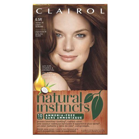 amazoncom clairol natural instincts rb bright auburn