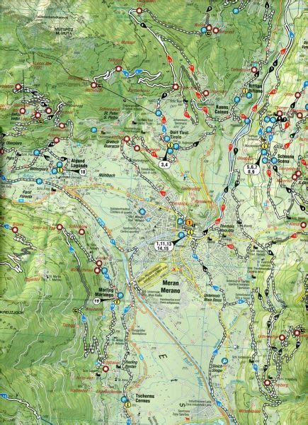 mountainbike karte meran und umgebung cartina