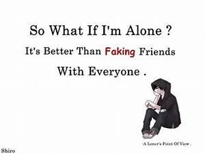 Sad Loner Quote... Anime Boy Quotes