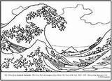 Coloring Wave Hokusai Lesson Plan Tsunami Colouring Japanese Sheets Teacherspayteachers Elementary Waves Printable Drawing Primary Parodies Lessons Katsushika Natural Adult sketch template