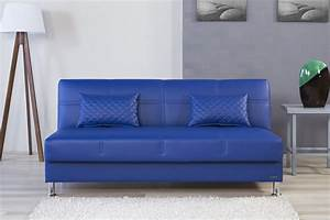 Eco rest zen navy leatherette sofa by casamode for Zen sofa bed
