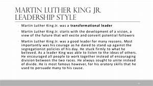 martin luther king thesis statement