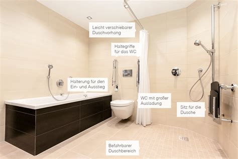 barrierefreies bad maße barrierefreies bad hoher komfort und ergonomische zusatzfunktionen