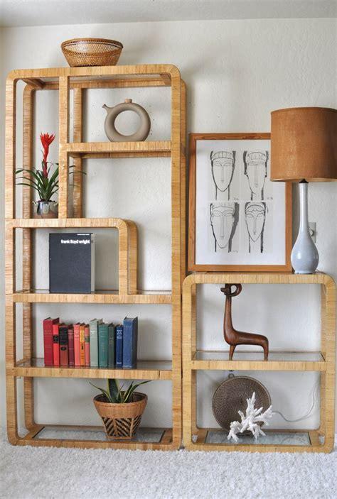 wall divider shelves sold vintage 70 s rattan etagere room divider wall shelf 3308