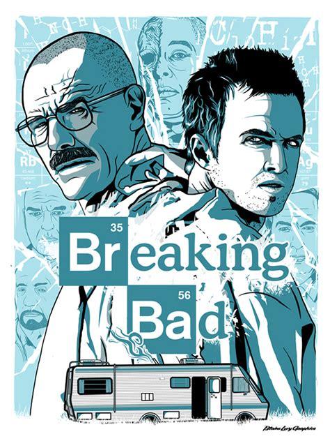 breaking bad poster breaking bad blue sky fan poster on behance