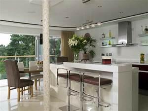 amenager une cuisine ouverte sur salle a manger With cuisine ouverte ilot central