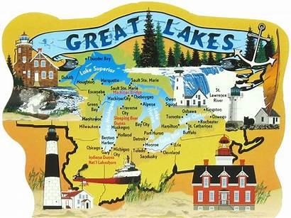 Wisconsin Lakes Map Lake Superior Clipart Michigan