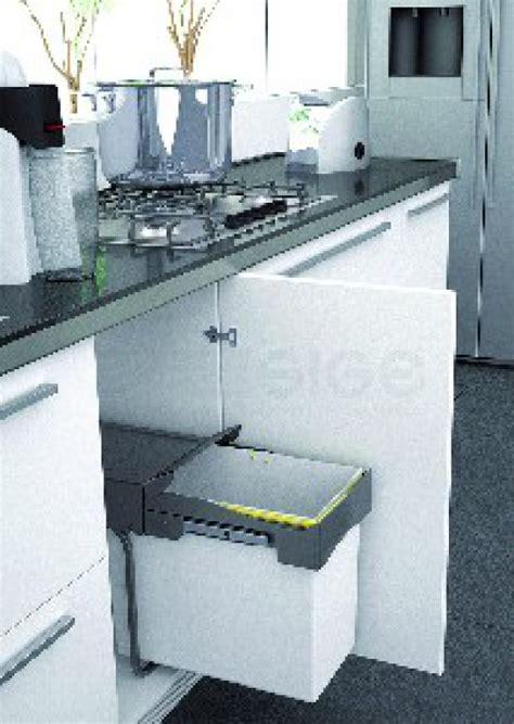 balitrand cuisine poubelle de cuisine rectang coulissante 21 litres dim