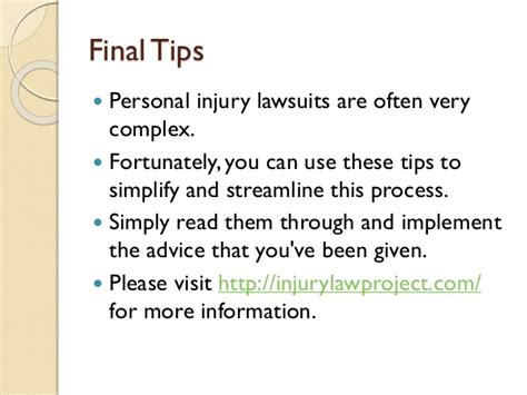 Tips On Finding The Best Personal Injury Lawyer For A