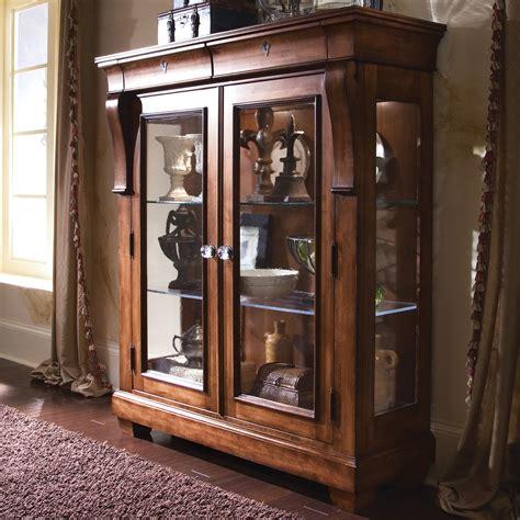 curio cabinets with glass doors kincaid furniture tuscano curio glass door display cabinet