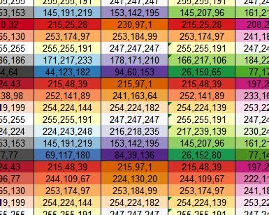 vba color codes using colors in excel peltier tech