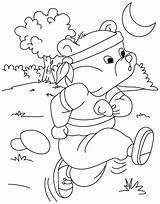 Running Coloring Pages Printable Race Bear Run Track Runners Horse Print Getcoloringpages Getcolorings Dog sketch template