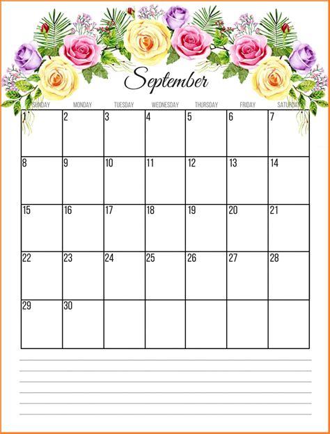 printable floral  monthly calendar july calendar