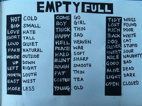 Type Hierarchy Opposite Words  Emma Goodmanadvertising Design