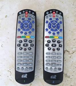 2 Dish Network 20 0  U0026 21 0 Ir  Uhf Remote Control Vip 722k