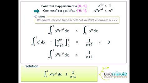 fonction d une chaise encadrer une intégrale d 39 une fonction exponentielle
