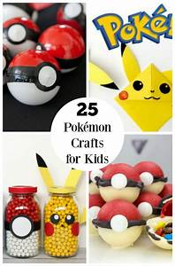 25 Pokémon Crafts for Kids on the GO Make and Takes