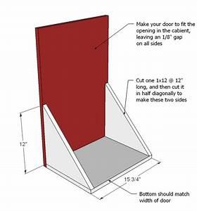 tilt out trash cabinet woodworking plans - WoodShop Plans