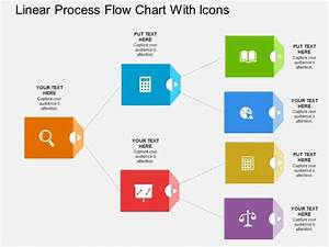 Ig Linear Process Flow Chart With Icons Flat Powerpoint