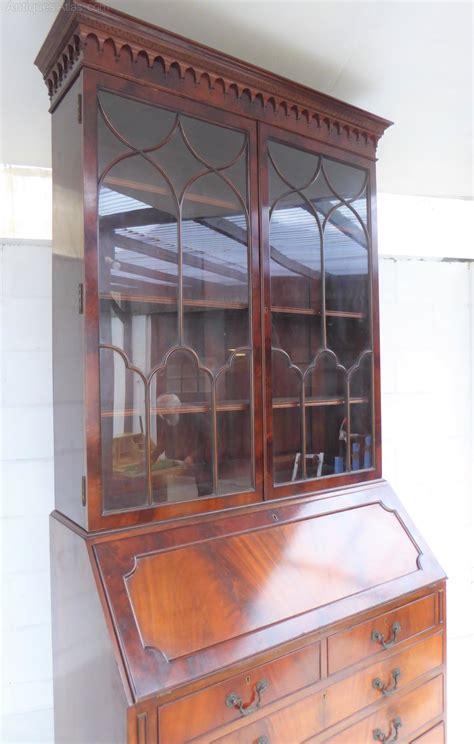 style bureau mahogany chippendale style bureau bookcase antiques atlas
