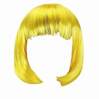 Wig Transparent Background Clipart Hair Yellow Blonde