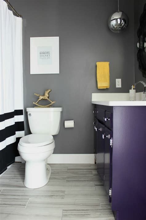 bathroom storage ideas toilet black gray and brass master bathroom remodel