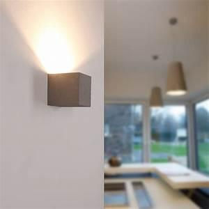 Pflanzkübel Eckig Beton : gipswandleuchte eckig korytko12 in beton optik wohnlicht ~ Sanjose-hotels-ca.com Haus und Dekorationen