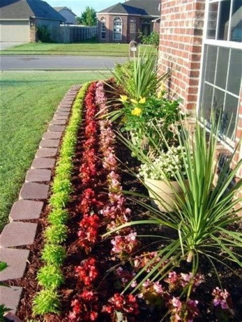 landscape flower beds in front of house landscaping designs for the front yard