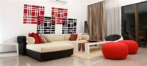 Deco Moderne Salon : salons modernes 2015 rouge d co ~ Teatrodelosmanantiales.com Idées de Décoration