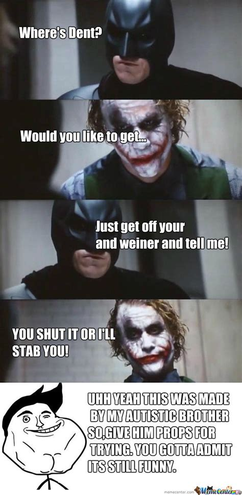 Batman Joker Meme - batman vs joker by kingpenguinz meme center