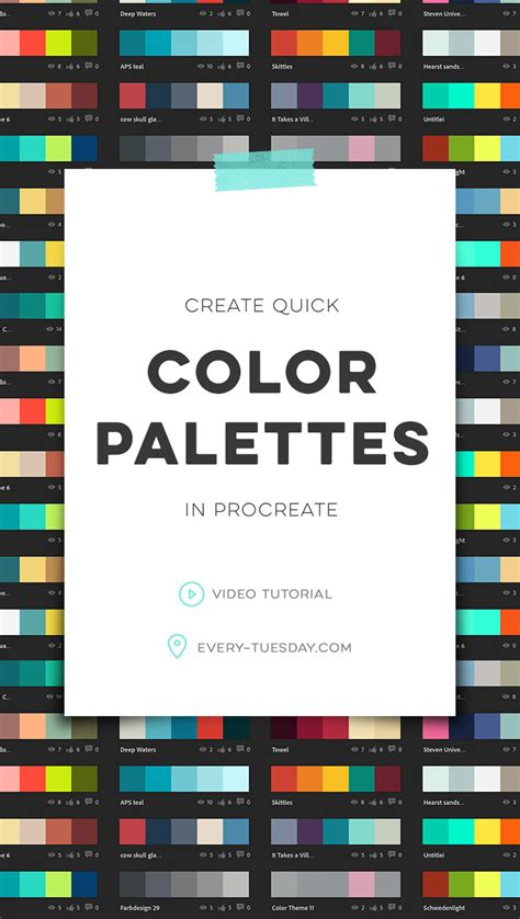 Create Quick Color Palettes In Procreate  Everytuesday