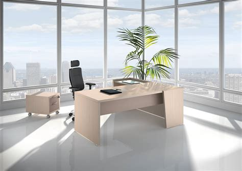 bureau b bureau direction b select coloris bois cèdre et table de