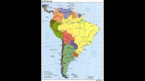 Mapa Sudamerica YouTube