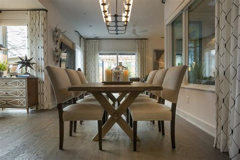 Picnic Inspired Dining Table With Beaded Chairs Hgtv