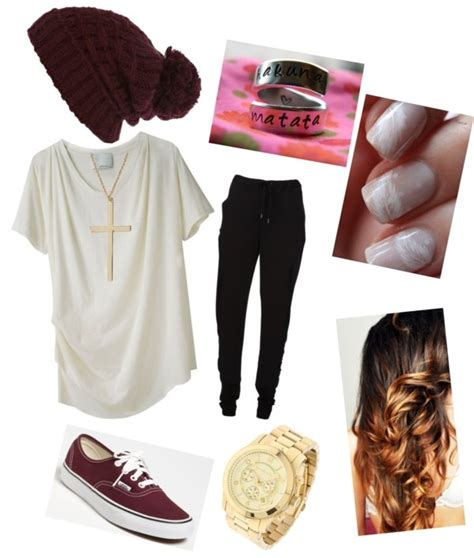 U0026quot;Maroon School Lazy Day Outfitu0026quot; by ccutwright liked on Polyvore LOVE this color combo   Cute ...