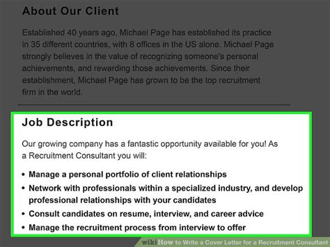 Recruitment Consultant Cover Letter Exle by How To Write A Cover Letter For A Recruitment Consultant