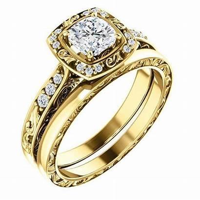 Ring Engagement Gold Precious Metals Yellow Emerald