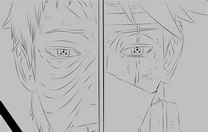 Naruto manga 655 Kakashi Obito by HDDraw on DeviantArt