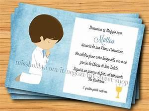 Invito Prima Comunione Per Bambino Feste Biglietti E