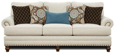 fusion furniture  traditional sofa  nailhead trim