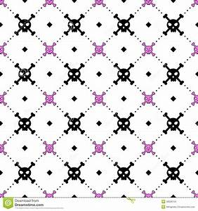 Girly Skull And Bones Pattern Stock Vector - Image: 48026154