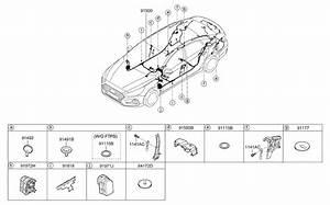 2018 Hyundai Sonata Floor Wiring